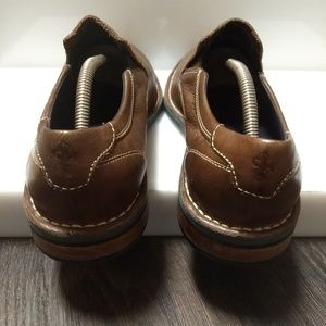 Cole Haan Shoes - Cole Haan Mens Brown Leather Slip On Loafers